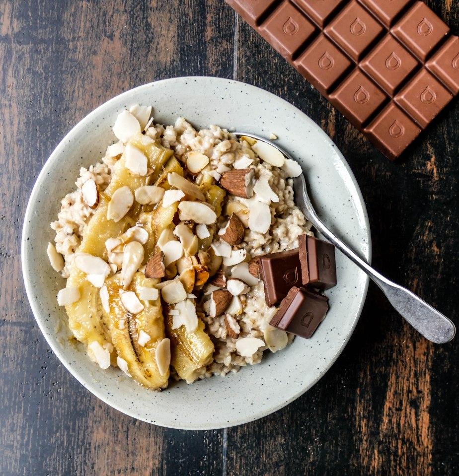 Porridge avoine banane