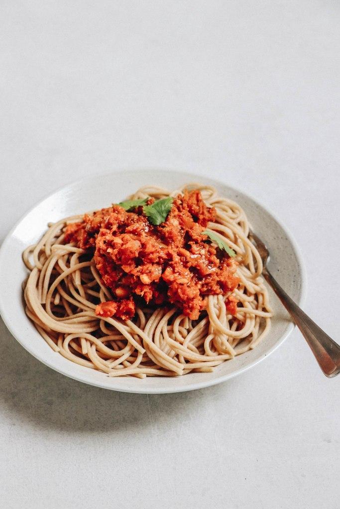 Recette de bolognaise vegan, rapide et très gourmande